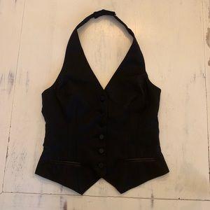 H&M | Black Tuxedo Halter Vest